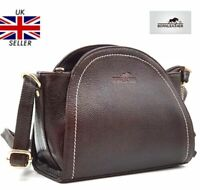 New Womens Ladies 100% Genuine Real Leather Cross-body Shoulder Hand Bag RRP£110