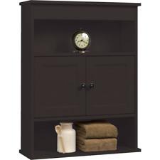 Chapter Bathroom Wall Medicine Cabinet Storage Shelf Espresso Vanity Towel  Rack