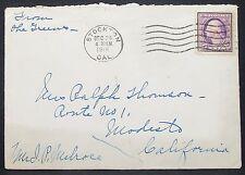 Us Postal History Envelope stockton 3c 1918 EF EE. UU. carta (h-10919
