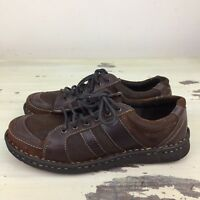 BORN - NEW Brown Leather Casual Sneakers Shoes, Womens 7.5 - MUST SEE!