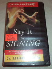 VHS Video Say It by Signing Dr Elaine Costello 1985 60 minutes Exlib