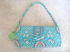 NWT VERA BRADLEY PAISLEY Turquoise Tan Hand Bag Purse Shoulder Bag Clutch NEW!