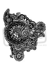 A7 'Paisley Pattern' Unmounted Rubber Stamp (SP00003342)
