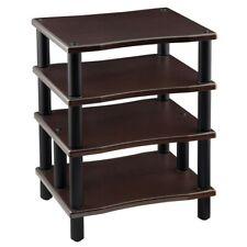 4 Shelf Audio Video Tv Media Component Stand Rack Av Equipment Wood Espresso