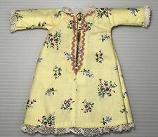 Vintage Ginny Doll Robe Talon Zipper 1955 #186 Yellow Variation
