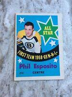 1969-70 O-Pee-Chee #214 Phil Esposito All-Star R20