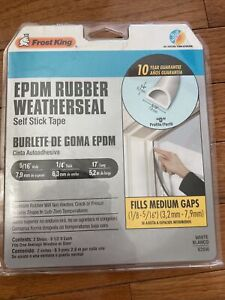 Frost King EPDM RUBBER WEATHERSEAL V25W - White Self Stick Tape 17' long