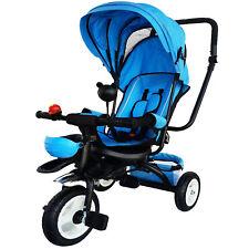Dreirad  mit Dach Lenkstange Kinder 2-5 Jahre Fahrrad blau