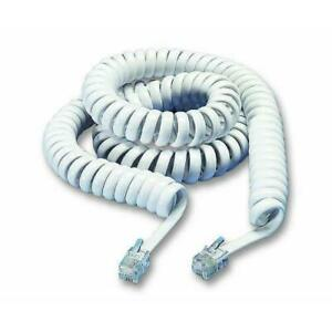 BT Decor 2100 2200 2600 Replacement Telephone Handset Curly Coiled Cord White