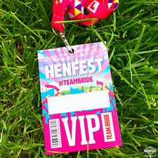 HENFEST Festival Hen Party VIP Passes / Hen Party Lanyards
