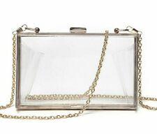 Women Clear Clutch Purses Box Shoulder Bags Wedding Party Transparent Acrylic