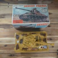 Vintage 1970's Desert Patrol Sherman M-4 Tank Battery Operated Boxed Rare