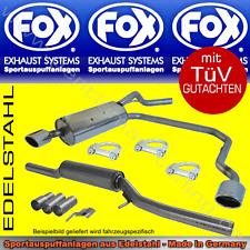 FOX ANLAGE AUSPUFF Duplex Audi RS6 Quattro Limo/Avant 4B 4,2l 140x90 R/L