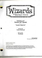 Wizards of Waverly Place Script Selena Gomez Season 3 & Season 4  U Pick Episode