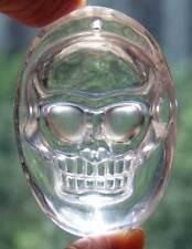 "A++ 1.8"" NATURAL Clear Quartz Rock Skeleton, Crystal Healing SKULL Pendant"