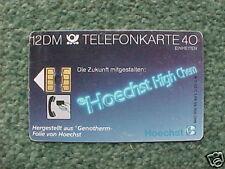 GERMANY 12DM 40u Telefonkarte1989 S02C Hoechst Infotec
