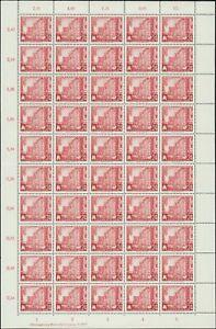 DDR Nr. 433 mit GWL F, postfrisch im Bogen , DV, Großbogen, Schalterbogen