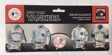 New York Yankees Evolution of the Jersey Fridge Magnets - Uniform History