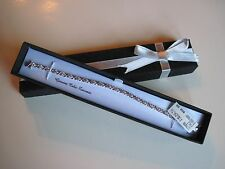 Fine Silver Plated Light Pink Cubic Zirconia Tennis Bracelet, Gift Box, MSRP $60