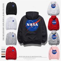 Women&Men NASA Hoodie Pullover Tops Sweaters Unisex Skateboard Sweatshirts US !