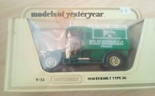 MATCHBOX Moy Modello Diecast 1910 RENAULT TYPE AG Y-25 ACQUA PERRIER