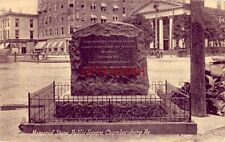 MEMORIAL STONE, PUBLIC SQUARE, CHAMBERSBURG, PA. horsedrawn carriages