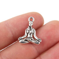 10PC Yoga Lady Charm Pendant Tibetan Silver Beads Fit DIY Jewelry Finding Craft
