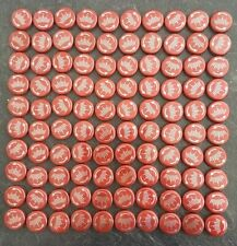 100 Budweiser Bottle Tops, Perfect for Arts & Crafts, Imperfect Condition