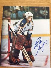 Buffalo Sabres Bob Sauve signed 8x10 W/COA pose 8