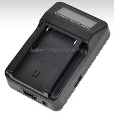 LCD Battery Charger for Sony NP-F970 LED Vedio Light CCD-TRV Handycam Camcorder