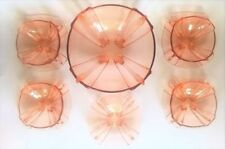 Pink Art Deco Date-Lined Glass