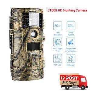 20MP 1080P Trail Camera Security PIR Hunting Scouting Wildlife Game Cameras AU!