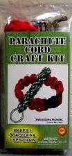 Parachute Cord Craft Kit: 2 Projects - Makes 1 Bracelet & 1 Key Chain (Ages 8+)
