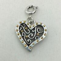 Brighton GATE OF LOVE HEART  Snap Charm   NWOT  J93571