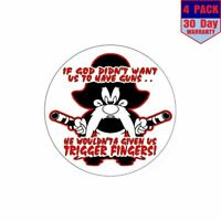 Yosemite Sam He Wouldnt A Gave Us Trigger Fingers 4 pack 4x4 Inch Sticker Decal