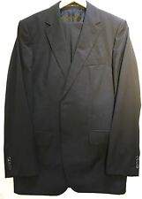 "$2550 Hugo Boss Selection Men's Black Suit 40R Jacket Trouser 34"" Waist Tailored"