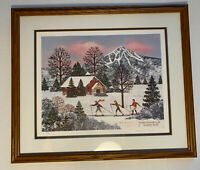 Winter Enchantment by Jane Wooster Scott Framed Signed & Numbered LE Lithograph