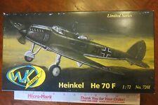 WK Models Heinkel He 70 F Limited Series 1:72 scale model kit 7201 complete 1987