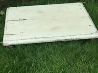 Vintage Indian Tropical Hardwood Low Bath Table Great for Display Coffee Table