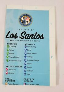 GTA GRAND THEFT AUTO 5 V LOS SANTOS MAP ONLY - GREAT SHAPE