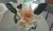 SILK ROSE IN A GLASS - ROSE SCENTED