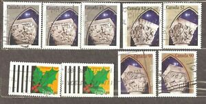 Canada: full set of 4 used stamps, Christmas, 1995, Mi#1524-7