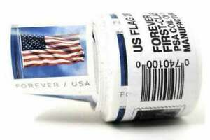 100 USPS Forever Flag Stamps Coil Roll Free Same Day Shipping Mon-Sat