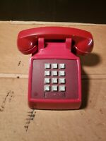 Vintage red Western Electric 2500 DM Touch Tone Bell Telephone