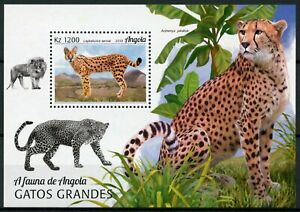 Angola Wild Animals Stamps 2018 MNH Big Cats Serval Cheetah Fauna 1v M/S