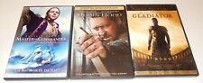 Lot of 3 Russell Crowe Action Movies Dvd 3 Discs Gladiator Robin Hood Master