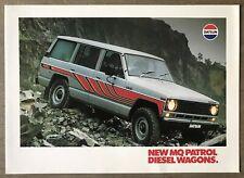 1981 Datsun MQ Patrol Diesel Wagons original Australian sales brochure