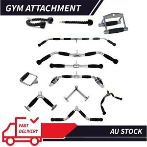 Cable Attachment Tricep Rope Handle Push Pull Lat Row Bar Gym Accessory