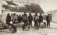 1925 Vintage CANADA ~ Fort Norman Mackenzie River Men Police Dog Sleigh Photo