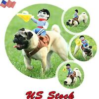 Funny Pet Dog Riding Horse Rodeo Party Cowboy Costume Halloween Costume Clothes